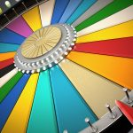 Prize wheel with empty slices.